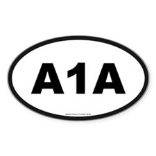 A 1 A Oval Decal