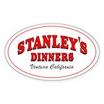Stanley's Diner Oval Sticker