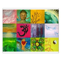 Smiling Buddha Patchwork Posters