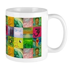 Smiling Buddha Patchwork Mug