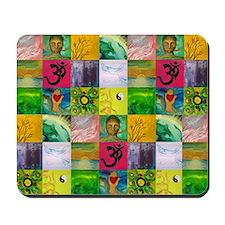 Smiling Buddha Patchwork Mousepad