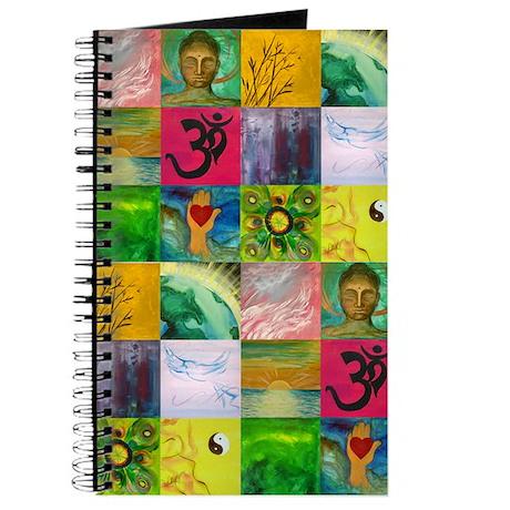 Smiling Buddha Patchwork Journal