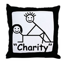 """""""Charity"""" Throw Pillow"""