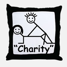 """Charity"" Throw Pillow"