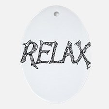 Relax Oval Ornament