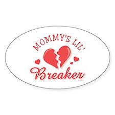 Mommy's Lil' Heartbreaker Oval Decal
