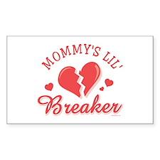 Mommy's Lil' Heartbreaker Rectangle Decal