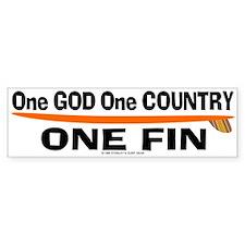 One God One Fin Bumper Bumper Sticker