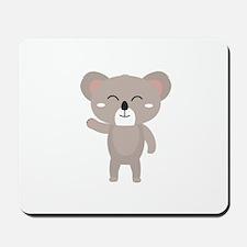 Friendly waving koala Mousepad