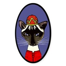 siamese cat in a hat Decal