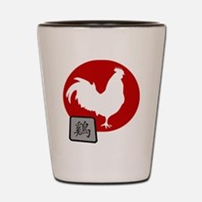 Asian Oriental Chinese Rooster Shot Glass