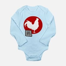 Asian Oriental Chinese Long Sleeve Infant Bodysuit