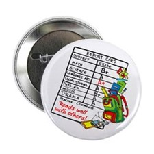 """Reads Well with Others! 2.25"""" Button"""