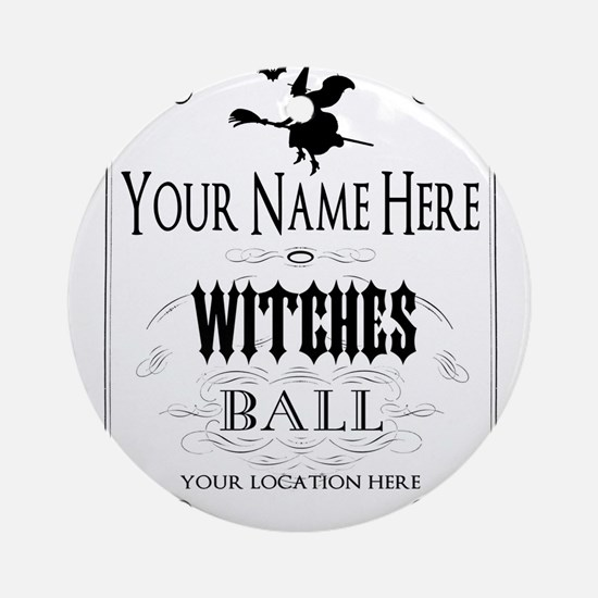 Witches Ball Round Ornament