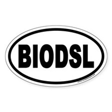 BioDiesel Euro Style Oval Decal