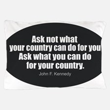Funny John f kennedy glass shaker Pillow Case
