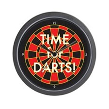 Time for Darts Wall Clock
