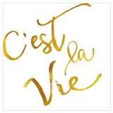 Cest la vie Wrapped Canvas Art