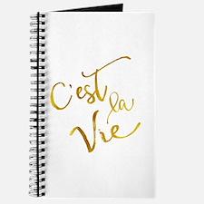 C'est La Vie Gold Faux Foil Metallic Motiv Journal