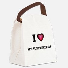 I love My Supporters Canvas Lunch Bag