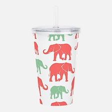 Elephants Acrylic Double-wall Tumbler