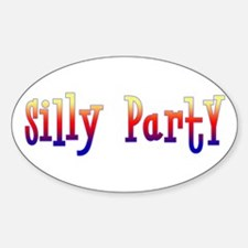 Silly Party Oval Decal