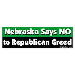 Nebraska Republican Bumper Bumper Sticker