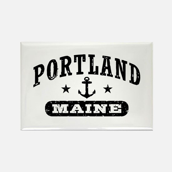 Portland Maine Rectangle Magnet