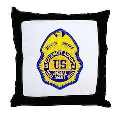 DEA Special Agent Throw Pillow