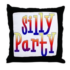 Silly Party Throw Pillow