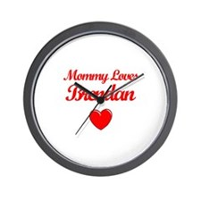 Mommy Loves Brendan Wall Clock