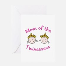 Mom of Twincesses Greeting Cards