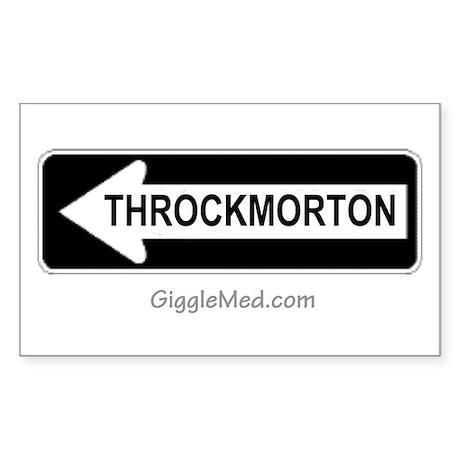 Throckmorton Sign Rectangle Sticker