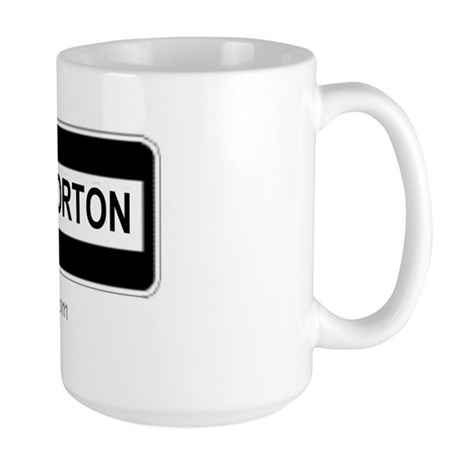 Throckmorton Sign Large Mug