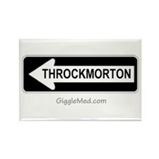 Throckmorton Sign Rectangle Magnet