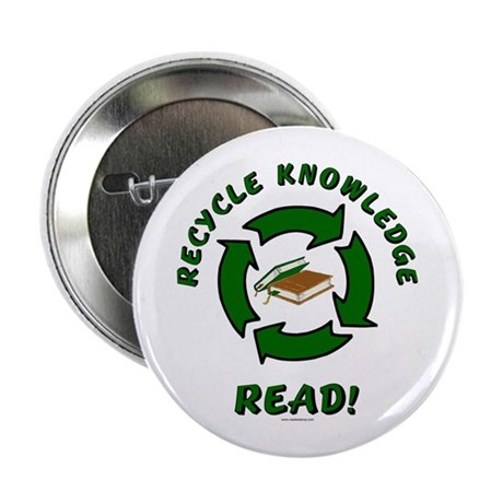 """Recycle Knowledge 2.25"""" Button (10 pack)"""