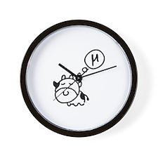 Cow says 'mu' Wall Clock