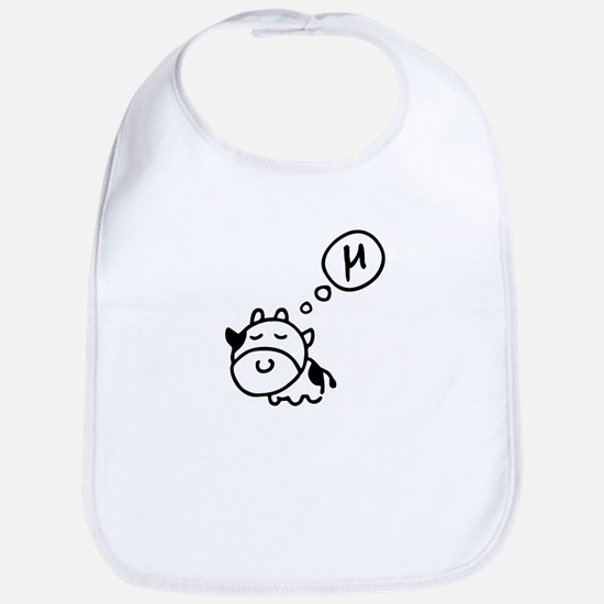 Cow says 'mu' Bib