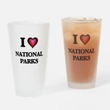 I Love National Parks Drinking Glass
