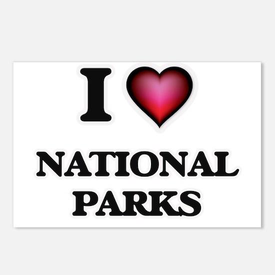I Love National Parks Postcards (Package of 8)