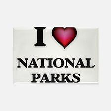 I Love National Parks Magnets