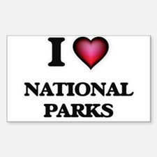 I Love National Parks Decal