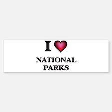 I Love National Parks Bumper Bumper Bumper Sticker