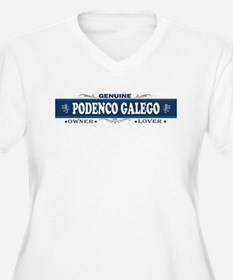 PODENCO GALEGO Womes Plus-Size V-Neck T-Shirt