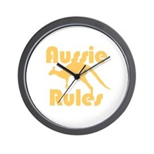 Aussie Rules Wall Clock