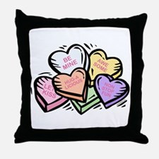 Candy Hearts I Throw Pillow
