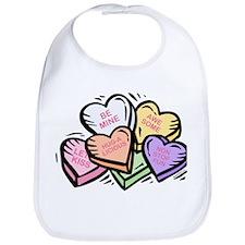 Candy Hearts I Bib