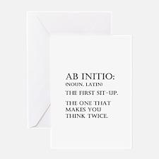 Ab Initio Greeting Card