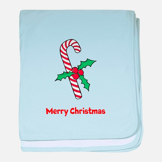 Candy Cane Personalized baby blanket