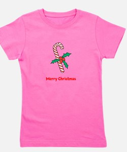 Candy Cane Personalized Girl's Tee